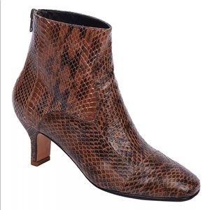 Rachel Comey Raine Boots in Brown Snakeskin